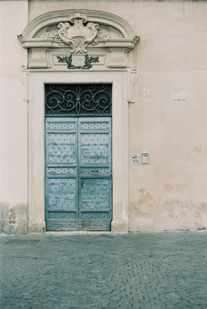 Trastevere-Rome-Blue-Door
